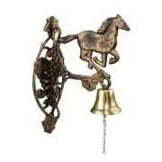 Sino em liga de bronze Suporte em alumínio fundido (Cavalo)