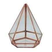 Terrário Pirâmide em cobre pentagonal G