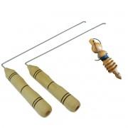 Dual Rod + Pêndulo Modelo 07 Em Madeira Para Radiestesia