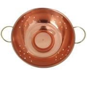 Escorredor de cobre com detalhe latão