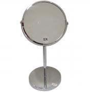 Espelho de Aumento c/ Base - Prata