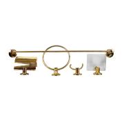 Kit Acessórios Para Banheiro Dourado