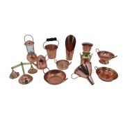 Kit Completo 12 Miniaturas em cobre