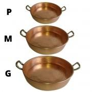 kit Frigideira Reta em Cobre P,M<G