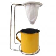 Kit Mini Coador de Café Com Caneca Amarela