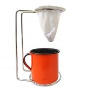 Kit Mini Coador de Café Com Caneca Laranja