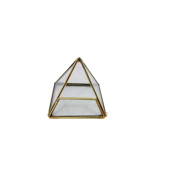 Terrário Pirâmide Mini Jardim P