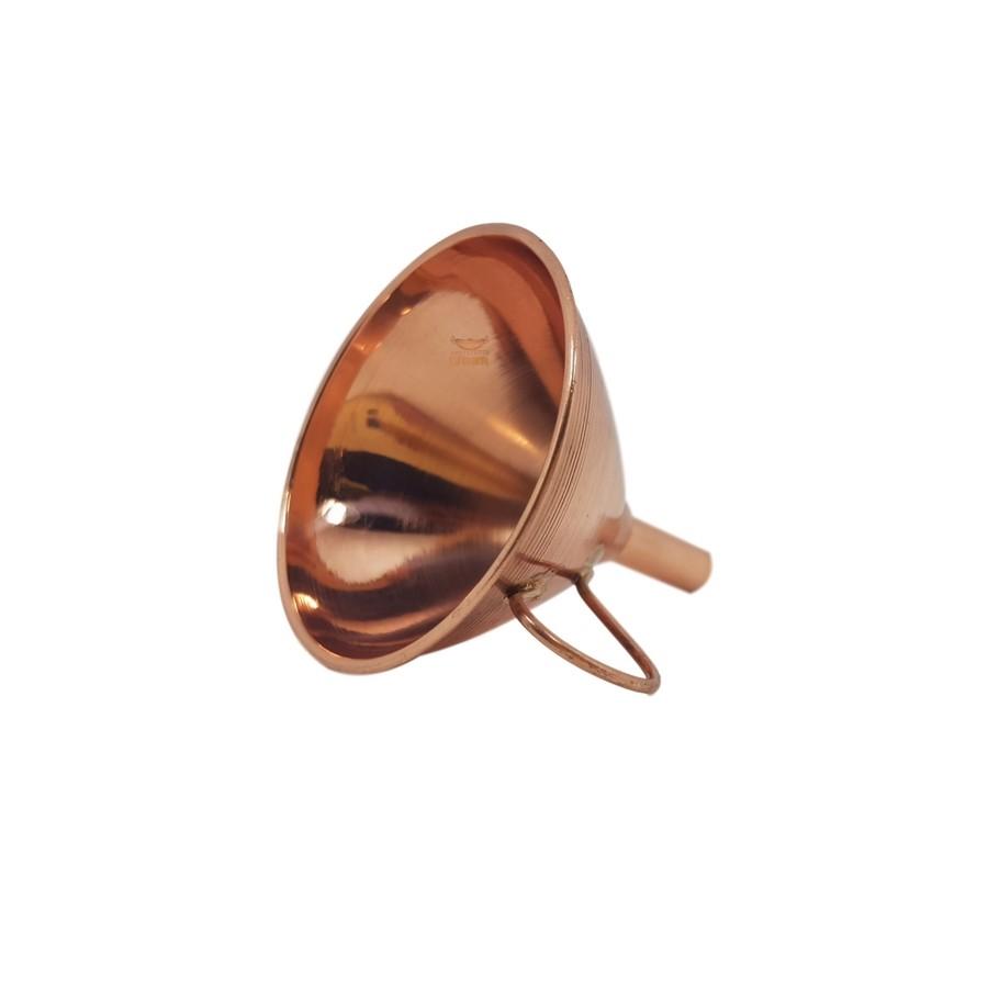 Funil em cobre miniatura