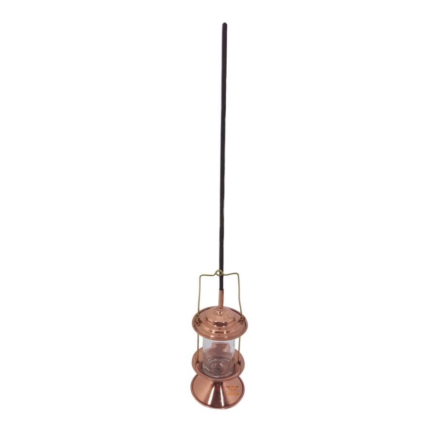 Lampião em cobre porta incenso miniatura