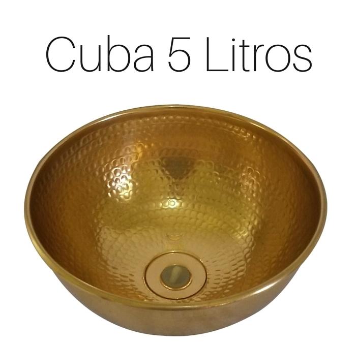 Cuba Dourada Martelada 5 Litros com Válvula