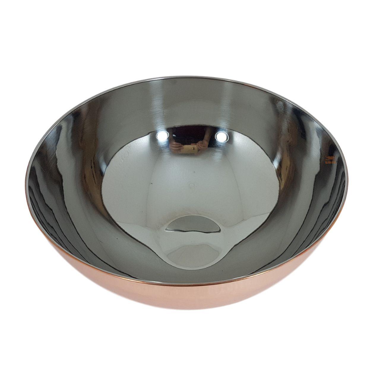 Bowl inox cobreado 28 cm