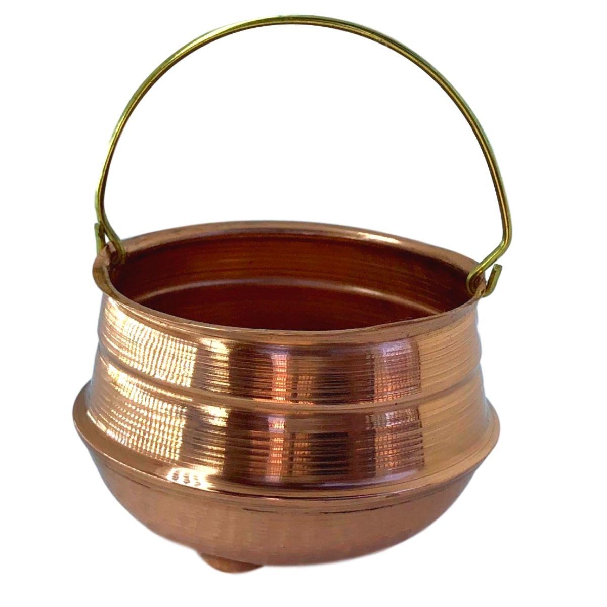 Caldeirão da Bruxa Miniatura em cobre Mod. 2