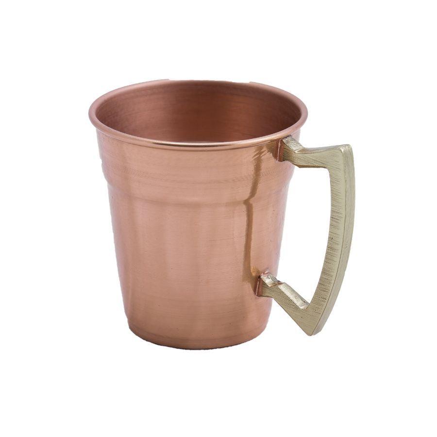 Caneca em Cobre 350 ml Alça de Bronze