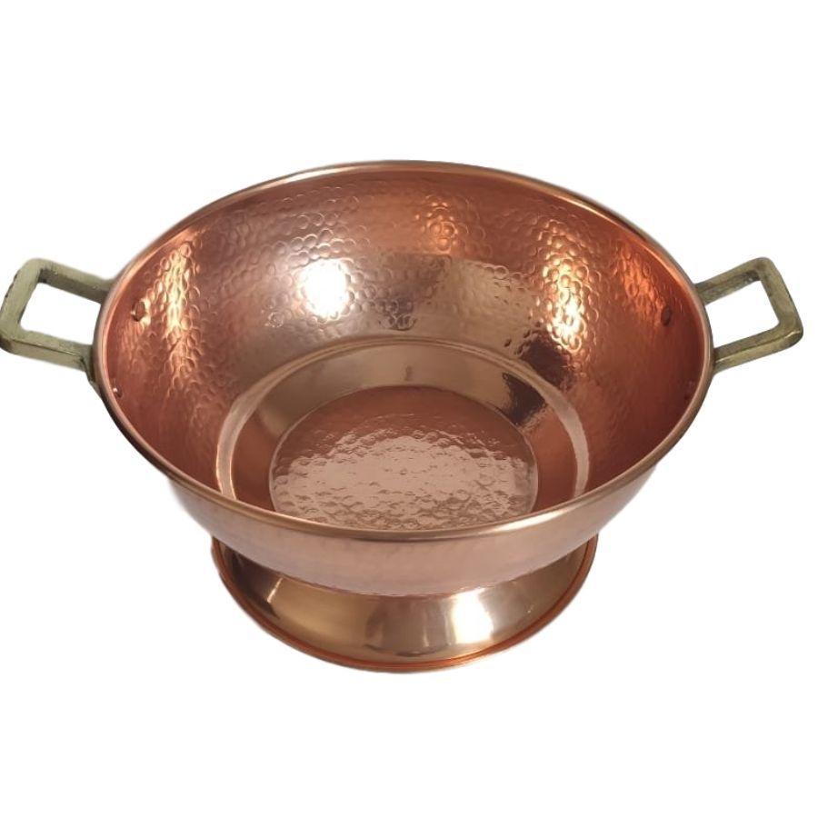 Champanheira em Cobre c/ Alça de Bronze Martelada