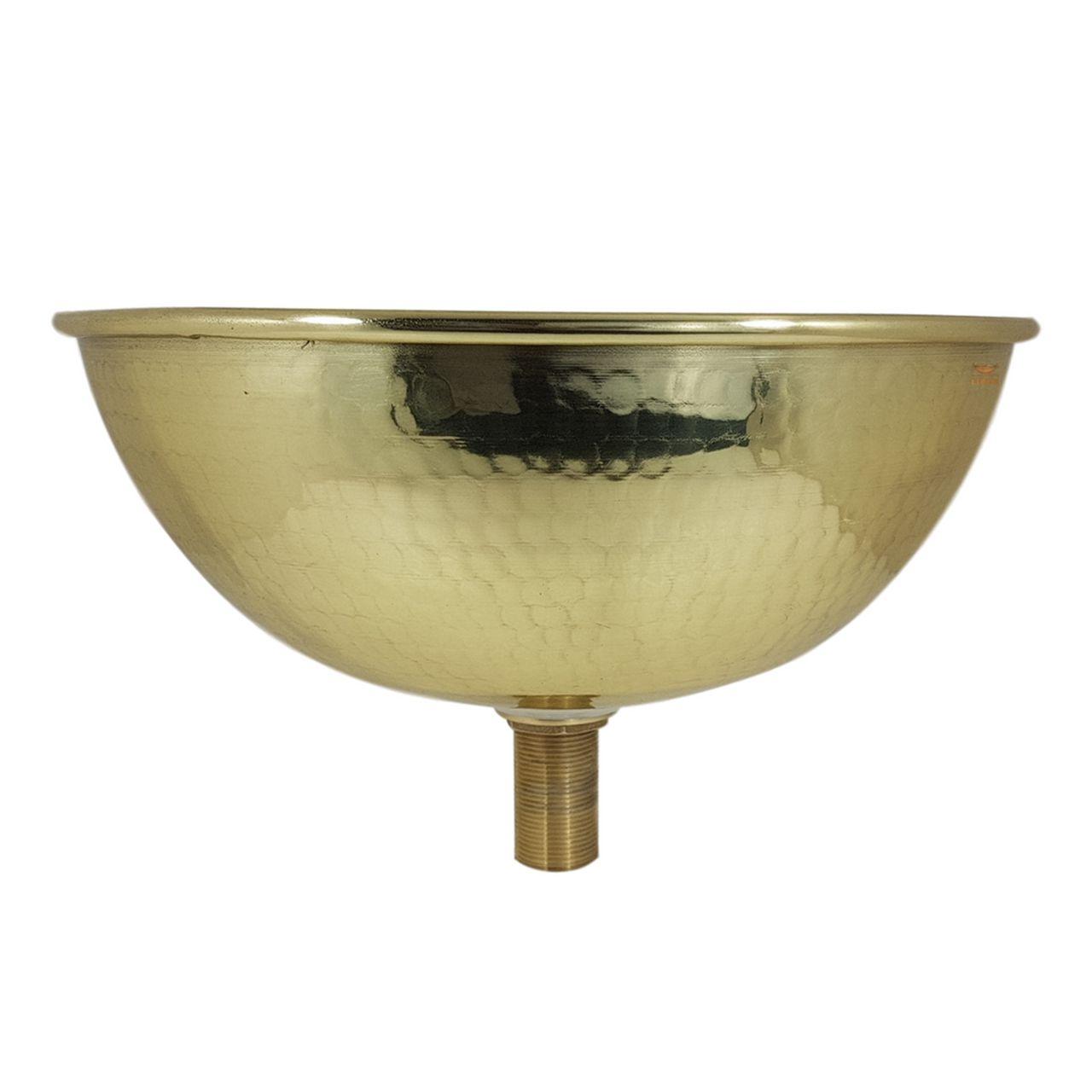Cuba Dourada Martelada 30 cm de diâmetro com Válvula