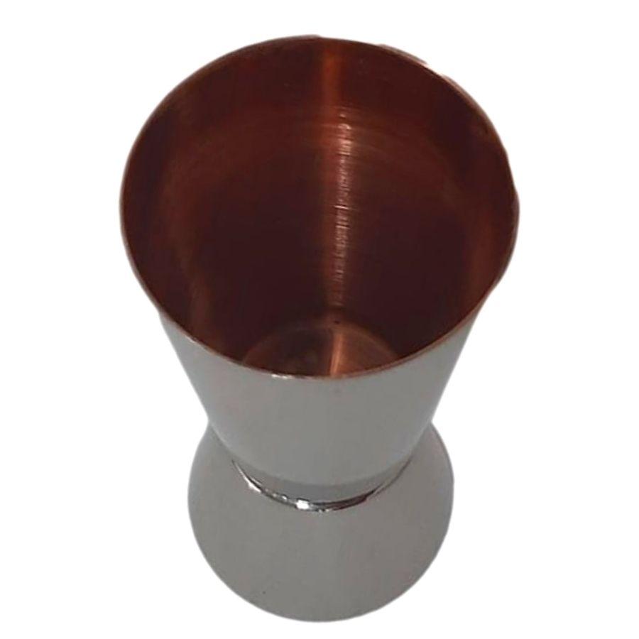 Dosador Duplo Cobreado por dentro e aluminio por fora