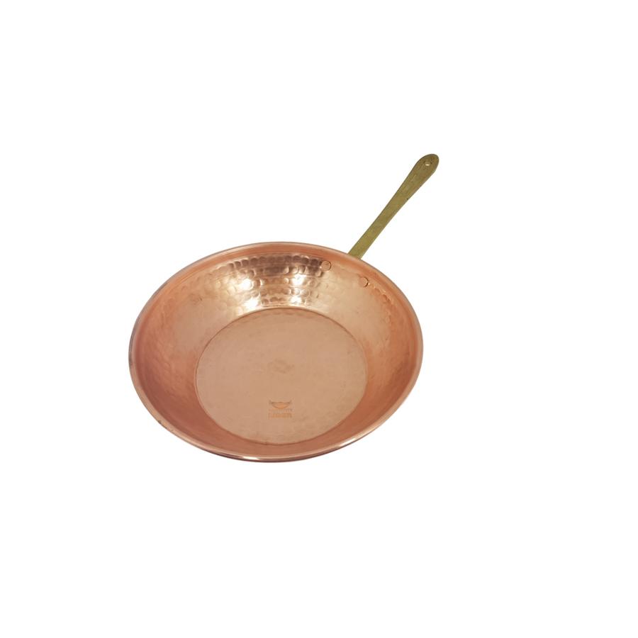 Frigideira em Cobre com Cabo em Liga de Bronze M