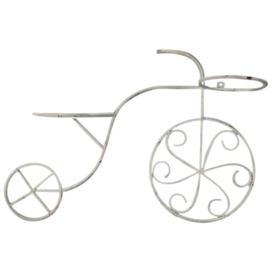 Mini Bicicleta Cachepot Cor Branca (PAREDE)