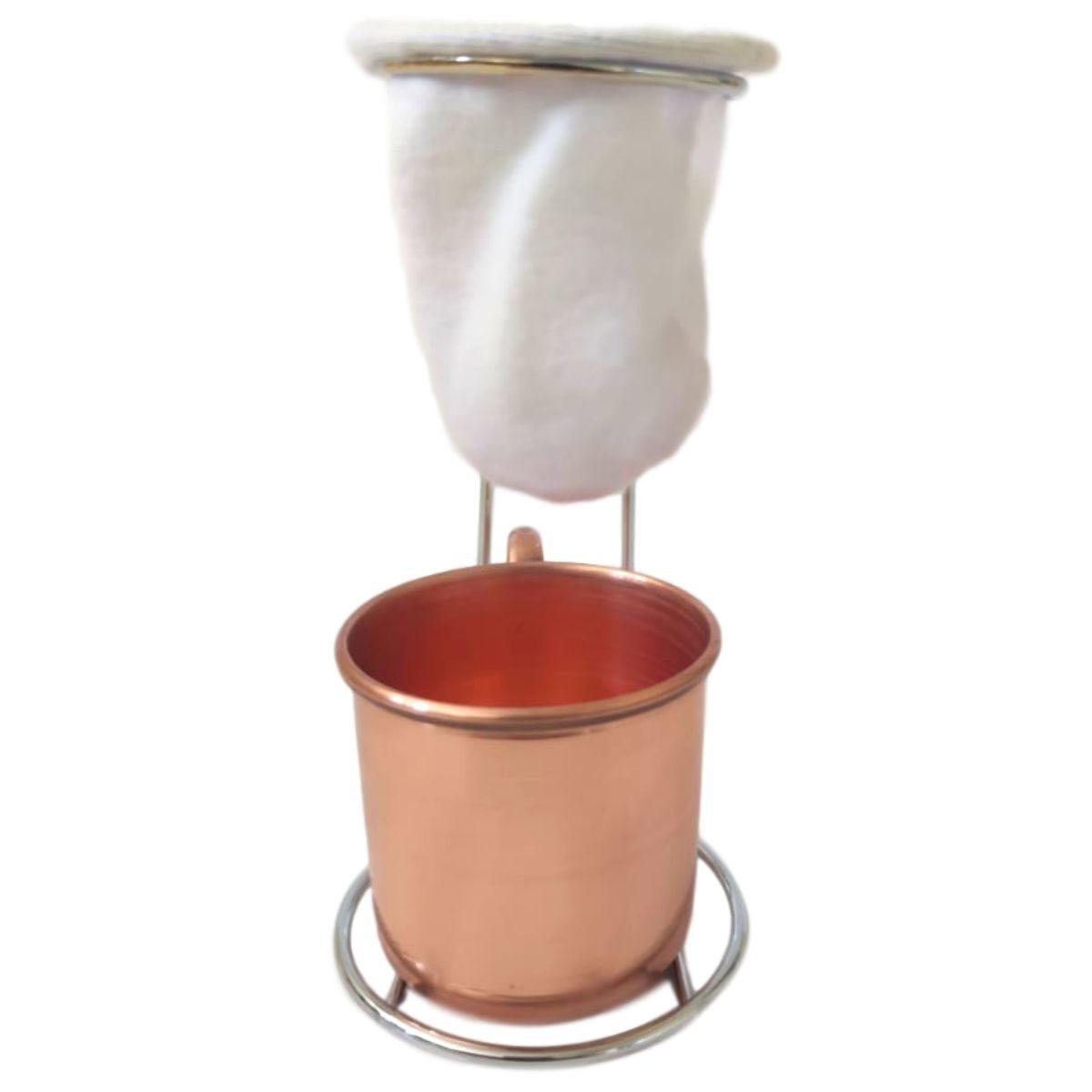 Mini Coador com Canequinha de Cobre 150 ml