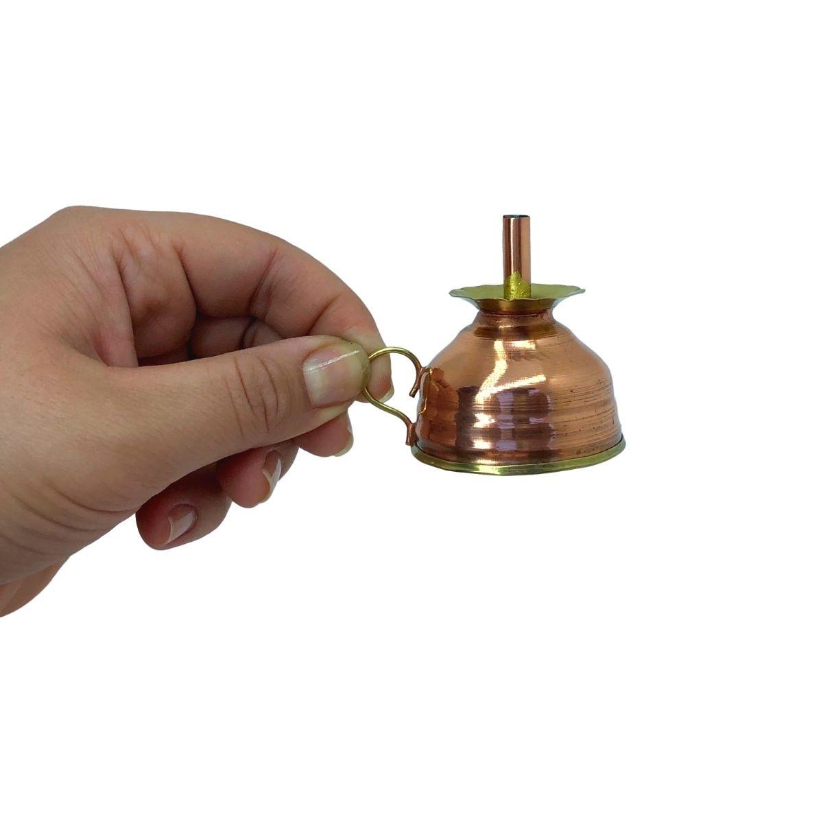 Mini Porta Insenso em Cobre Miniatura