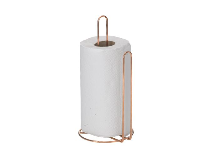 Porta rolo de papel art cook rose gold