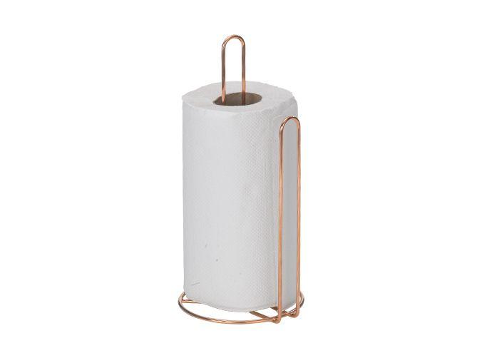 Porta rolo de papel art cook rose gold