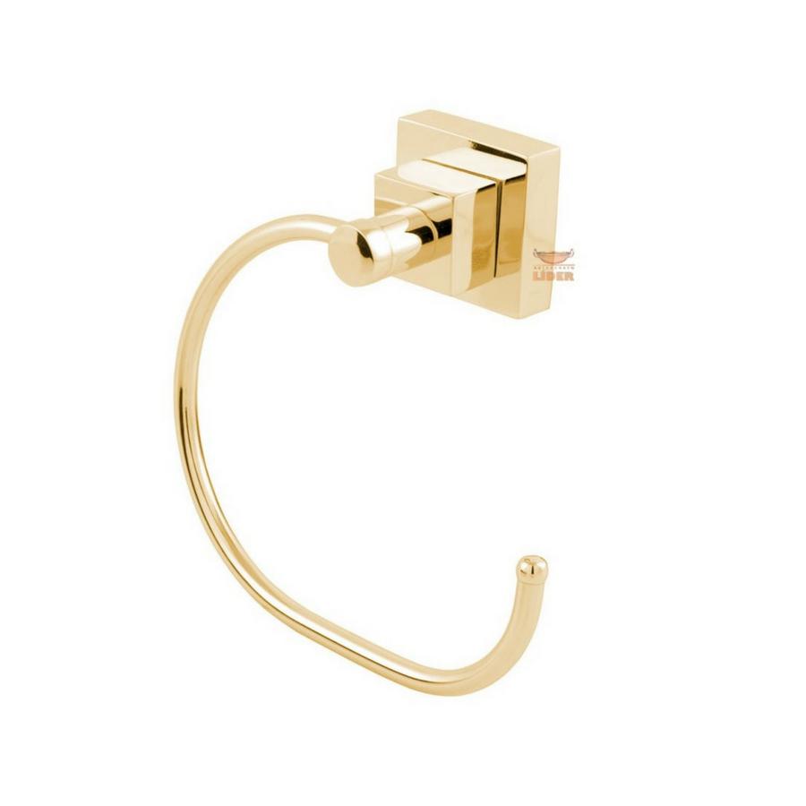 Porta Toalha Argola Luxo Dourado