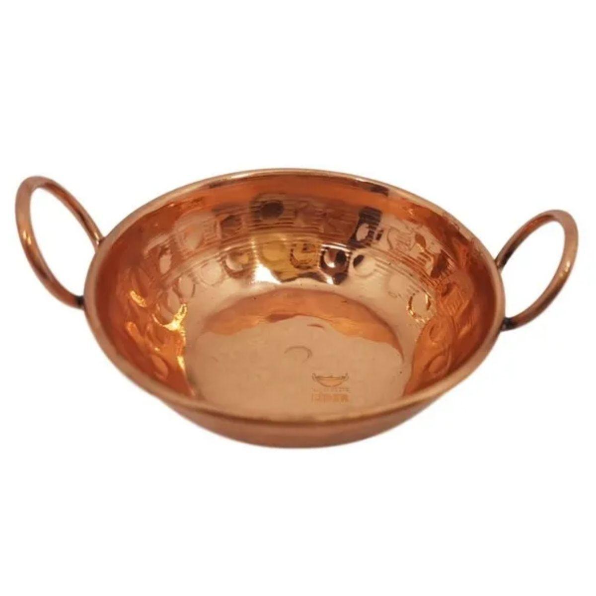 Tachinho em cobre 9 cm miniatura (Alças de Cobre)