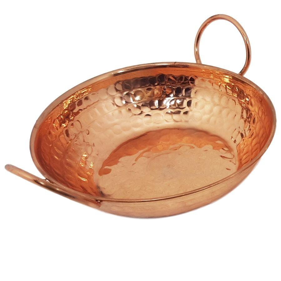 Tachinhos em cobre c/ Alças de Cobre 13 cm