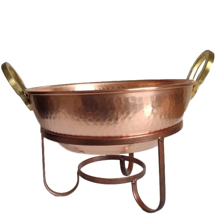 Tacho de cobre 5 litros com suporte