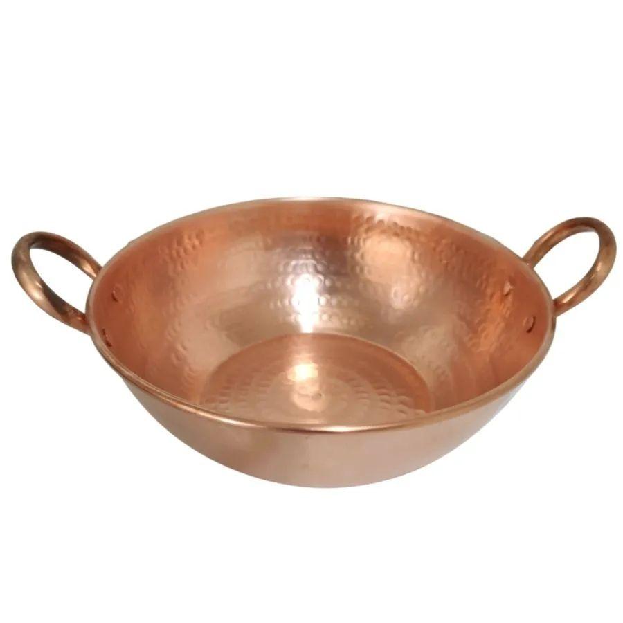Tacho De Cobre Puro 5 Litros Alça de cobre