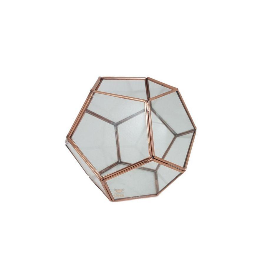 Terrário Dodecaedro Em Cobre