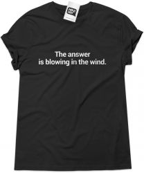 Camiseta e bolsa BOB DYLAN - The answer is blowing in the wind