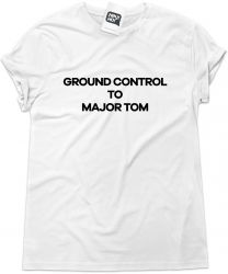 Camiseta e bolsa DAVID BOWIE - Ground control to Major Tom