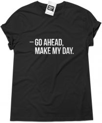 Camiseta e bolsa DIRTY HARRY - Go ahead make my day