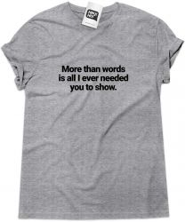 Camiseta e bolsa EXTREME - More than words