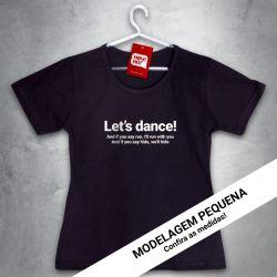 OFERTA - DAVID BOWIE - Let's dance - Baby Look Preta - Tamanho P