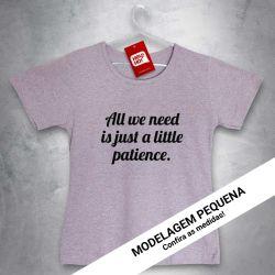 Camiseta e bolsa OFERTA - GUNS N' ROSES - Patience - BABYLOOK MESCLA CLARA - Tamanho M