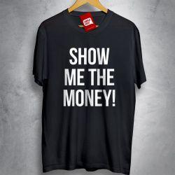 Camiseta e bolsa OFERTA - JERRY MAGUIRE - Show me the money - CAMISETA PRETA - Tamanho P