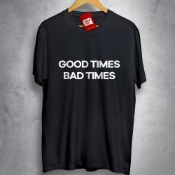 OFERTA - LED ZEPPELIN - Good times Bad times - Camiseta PRETA - Tamanho M