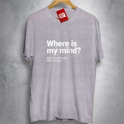 OFERTA - PIXIES - Where Is My Mind - CAMISETA MESCLA CLARA - Tamanho G