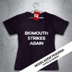 OFERTA - SMITHS - Bigmouth strikes again - Baby Look Preta - Tamanho M