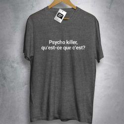 OFERTA - TALKING HEADS - Psycho Killer - CAMISETA MESCLA ESCURO - Tamanho GG