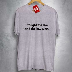 OFERTA - THE CLASH - I fought the law and the law won - CAMISETA MESCLA CLARA - Tamanho M