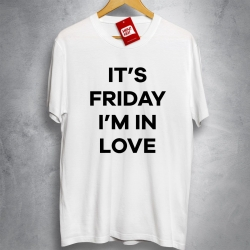OFERTA - THE CURE - It's Friday I'm in love - Camiseta BRANCA - Tamanho M