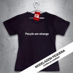 OFERTA - THE DOORS - People are strange - Baby Look Preto - Tamanho P