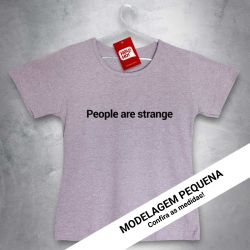 Camiseta e bolsa OFERTA - THE DOORS - People are strange - BABYLOOK MESCLA CLARA - Tamanho P
