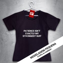 OFERTA - X-MEN - Patience - BABYLOOK PRETO - Tamanho P