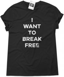 Camiseta e bolsa QUEEN - I want to break free