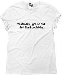 Camiseta e bolsa THE CURE - Yesterday I got so old